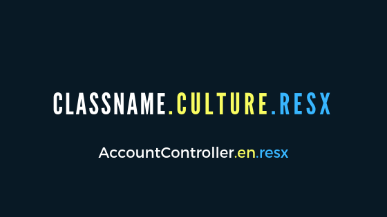 RESX file name for AccountController class and english culture.